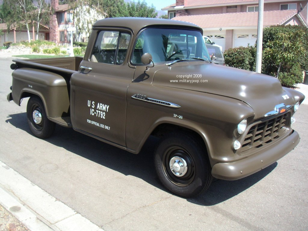 Truck Bed Dimensions >> Militaryjeep.com - 1956 Chevrolet Base Truck